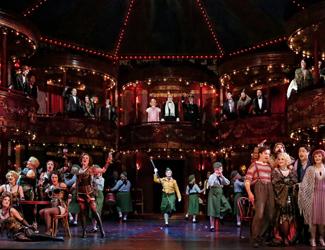 Impressive production set of La Bohème